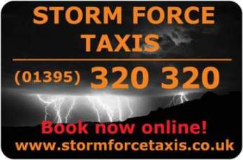 Storm Force Taxis  is listed as things to do in Exmouth